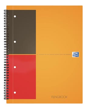 Oxford INTERNATIONAL Filingbook, 200 pages, ft A4+, quadrillé 5 mm