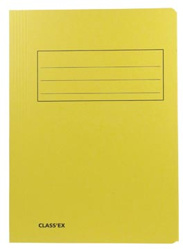 Class'ex chemise de classement, jaune, ft 23,7 x 32 cm (pour ft A4)