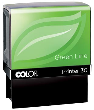Colop cachet Green Line Printer Printer 30, 5 lignes max., pour les Pays-Bas, ft 18 x 47 mm