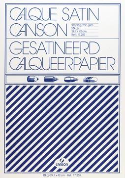 Canson papier calque, ft 29,7 x 42 cm (A3), étui de 10 feuilles