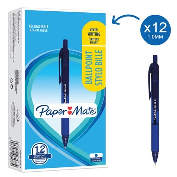 Paper Mate stylo bille Alfa RT, bleu