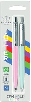 Parker Jotter Originals stylo bille, blister de 2 pièces, bleu/rose