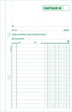 Exacompta factures, ft 21 x 13,5 cm, tripli, verticale, néerlandais