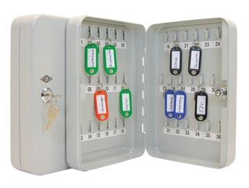 Wedo armoire à clés pour 36 clés, ft 18 x 6 x 25 cm, gris
