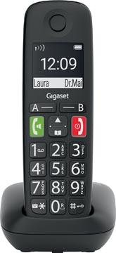 Gigaset E290 téléphone sans fil, grandes touches, noir