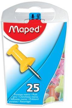 Maped épingles d'affichage, boîte distributrice de 25 pièces