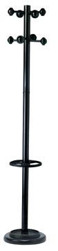 Unilux portemanteau Accueil, hauteur 175 cm, 8 patères, avec porte-parapluies