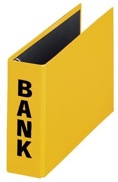 Pagna classeur à anneaux (CCP) ft 14 x 25 cm, jaune, exécution brillante avec typographie noire