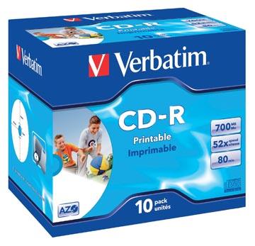 Verbatim CD enregistrable, boîte de 10 pièces, emballées individuellement (Jewel Case)