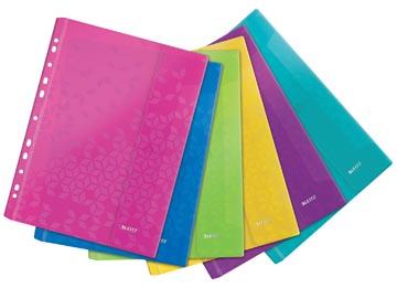 Leitz WOW pochette perforée A4, en PP, couleurs assorties