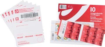 BPost kit d'envoi recommandé, paquet de 10 envois