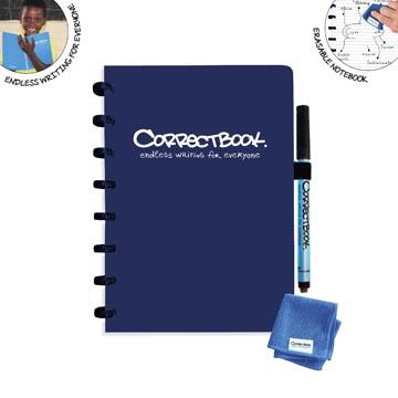 Correctbook A5 Original: cahier effaçable / réutilisable, ligné, Midnight Blue (bleu marine)