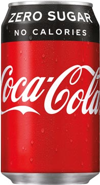 Coca-Cola boisson rafraîchissante, fat canette de 33 cl, paquet de 24 pièces