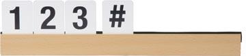 Securit étagère lettre avec les lettres et nombres, teck