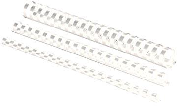 Fellowes reliures, paquet de 100 pièces, 8 mm, blanc