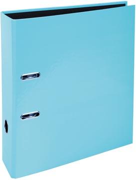 Exacompta Aquarel classeur en carton avec papier pelliculé, ft A4, dos de 8 cm, bleu pastel