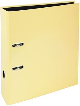 Exacompta Aquarel ordner uit karton met gecoat papier, ft A4, rug van 8 cm, citroengeel