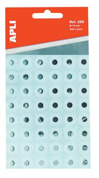 Apli oeillets de renforcement transparent, pochette de 240 pièces