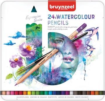 Bruynzeel crayons à aquarelle Expression, boîte de 24 pièces