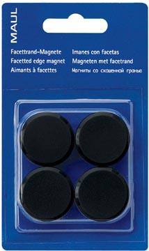 Maul aimant MAULsolid, diamètre 32 mm, noir, blister de 4 pièces