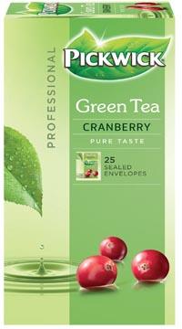 Pickwick thé, thé vert Cranberry, paquet de 25 sachets