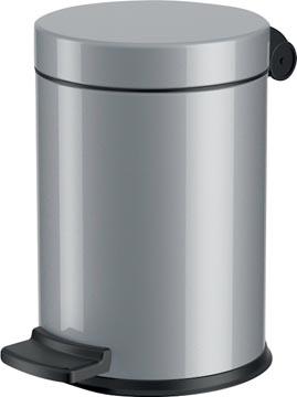Hailo poubelle pour sanitaire, 4 L, argent