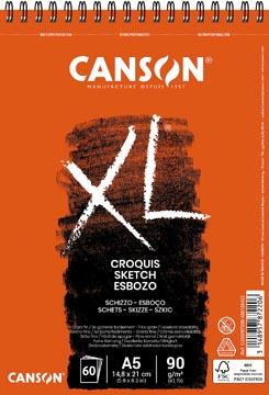 Canson album de croquis XL, ft 14,8 x 21 cm (A5), bloc de 60 feuilles