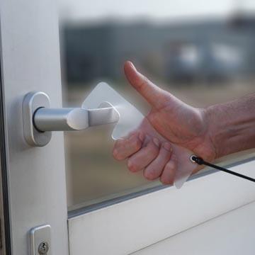 Jalema ouvre-porte mains libres, transparent, ft 10 x 52 mm, paquet de 4 pièces