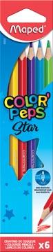 Maped crayon de couleur Color'Peps, 6 crayons
