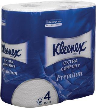 Kleenex papier toilette Extra Comfort, 4 plis, 160 feuilles par rouleau, paquet de 4 rouleaux