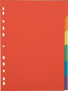 Pergamy intercalaires, ft A4, en carton, 6 onglets, 11 trous, en couleurs assorties