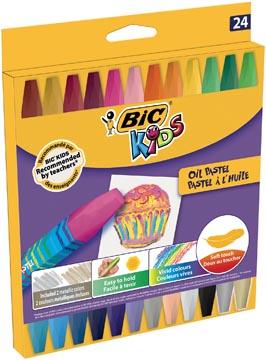 Bic Kids pastels à l'huile, étui de 24 pièces