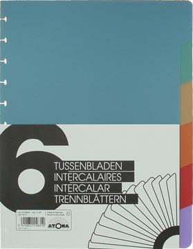 Atoma intercalaires, pour cahiers A4+, en PP, jeu de 6, couleurs assorties