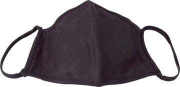 Masque lavable, noir uni, taille: enfants, paquet de 5 pièces