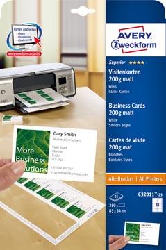 AVERY cartes de visite Quick&Clean 200 g/m²