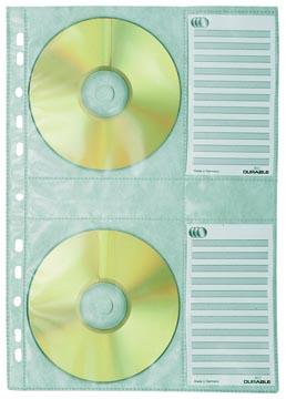 Durable pochette perforée pour CD/DVD