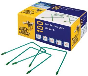Loeff's relieur, longueur 100 mm, boîte de 100 pièces