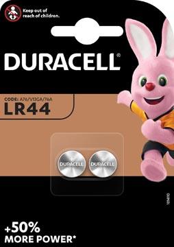 Duracell piles bouton Electronics, LR44, blister 2 pièces