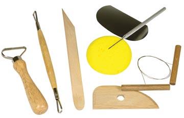 Paquet de base pour travailler l'argile, set de 6 pièces