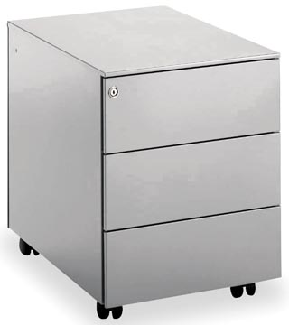 Mobo bloc à tiroirs Universal, 3 tiroirs, sur roulettes, aluminium