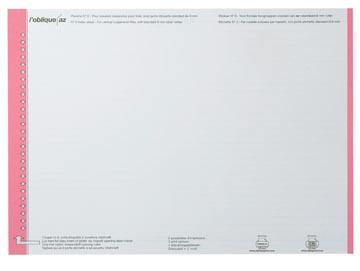 Elba étiquettes dossiers suspendus pr tiroirs rouge, 1 feuille avec 27 étiquettes