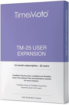 Safescan TimeMoto Cloud User Expansion paquet, 25 utilisateurs