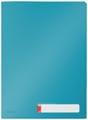 Leitz Cosy pochette coin avec intercalaires, 3 compartiments, ft A4, PP de 200 micron, opaque, bleu
