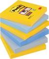 Post-it Super Sticky notes New York, ft 76 x 76 mm, couleurs assorties, 90 feuilles, paquet de 6 blocs