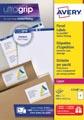 Avery L7168, Etiquettes d'expédition, Laser, Ultragrip, blanches, 100 pages, 2 per page, 199,6 x 143,5 mm