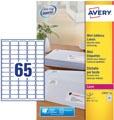 Avery L7651-25 étiquettes adresse mini ft 38,1 x 21,2 mm (b x h), 1.625 étiquettes, blanc